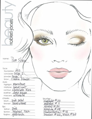 Makeup Face Charts Template Images - Template Design Ideas